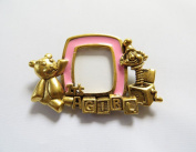 Danecraft Gold - Plated Baby Girl Picture Frame Pin Brooch