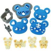 CutezCute Sandwich Cutter and Cookie Stamp Kit - Cuddle Palz - Great for Picky Eaters and Bento Lunch - Make Fun Sandwich, Cookie and More