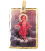 Blessed By Pope Benedetto XVI Infant Jesus Baby Jesus Child Jesus Gold Overlay Engravable Medal