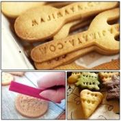 TribalSensation® 68 pcs Alphabet, Number, Letter Biscuit Fondant Cake/Cookie Stamp Impress Embosser cutter - Mould Set
