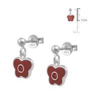 Girls Jewellery - Silver January Birthstone Butterfly Dangling Earrings