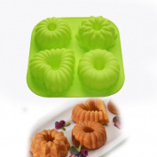 Mini Bundt Cake Pudding Jello Mould Pan Cupcake Bakeware Silicone Mould