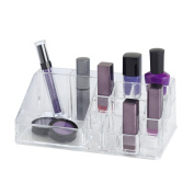 Clearly Chic 16 Compartment Clear Cosmetic Organiser