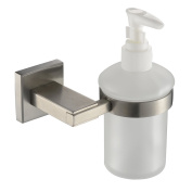 Angle Simple GB8211 Wall Mounted Soap Dispenser, Brushed Steel