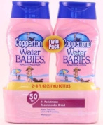 Coppertone Water Babies Sunscreen Lotion, SPF 50, 240ml, 2-Pack Personal Healthcare / Health Care