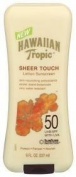 Hawaiian Tropic Lotion Sunscreen, Sheer Touch, 50 UVB/SPF with UVA, 240ml