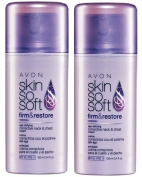 2 Avon SKIN SO SOFT Firm & Restore Age-Defying Corrective Neck & Chest Cream SPF 15