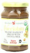 Rigoni Di Asiago Nocciolata Organic Hazelnut Spread, Cocoa and Milk, 280ml Jar