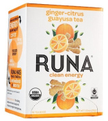 Runa Amazon Guayusa Tea Box, Ginger Citrus, 35ml
