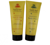 Naked Bee Orange Blossom Honey Hand and Body Lotion 200ml + Orange Blossom Honey Body Wash 200ml Set
