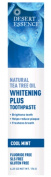 Desert Essence - Natural Tea Tree Oil Whitening Plus Toothpaste Cool Mint - 180ml