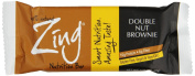 Zing Bar, Double Nut Brownie, 12 Count 50ml Bars