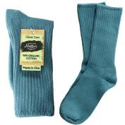 Maggie's Organics - Organic Cotton Crew Socks, Denim Blue Sizes 9-11, 1 ea