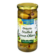Mediterranean Organics Stuffed Green Olives Red Peppers