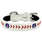 MLB Cleveland Indians Classic Leather Baseball Dog Collar