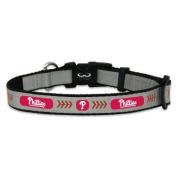 MLB Philadelphia Phillies Baseball Pet Collar, Reflective
