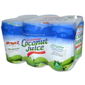 Amy and Brian Juice, Coconut, Pulp Free, 6 Pack, 300ml Tins