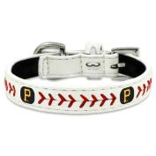 MLB Pittsburgh Pirates Classic Leather Baseball Dog Collar
