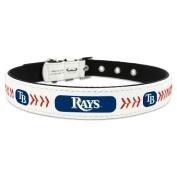 MLB Tampa Bay Rays Classic Leather Baseball Dog Collar
