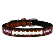 NCAA Texas A & M Aggies Classic Leather Football Collar, Toy
