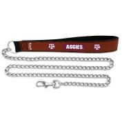 NCAA Texas A & M Aggies Football Leather 3.5mm Chain Leash, Large