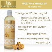 Beauty Aura 100 % Pure Walnut Oil Is Pressed From Best Quality Walnuts, 470ml