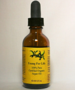 Organic Argan Oil Young for Life - Certified, Pure, Natural, Virgin Moroccan Cold Pressed - For Your Hair, Skin, Face, Nails and Cuticals. Skin Problems Relief. Use Daily and Look Younger Like the Hollywood Beauties - Life-time No Questions Asked Guara ..