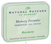 Natural Patches of Vermont - Memory Formula Essential Oil Body Patches Rosemary - 10 Patch