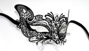Lady Fox Laser Cut Venetian Masquerade Mask with Rhinestones Event Party Ball Mardi Gars