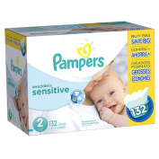 Pampers Swaddlers Size 2 Sensitive Nappies Super Economy Pack - 132 Count