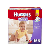Huggies Little Movers Size 3 Nappies - 156 Count