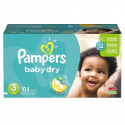 Pampers Baby Dry Size 3 Nappies Super Pack - 104 Count