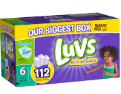 Luvs Size 6 Ultra Leakguards Nappies - 112 Count