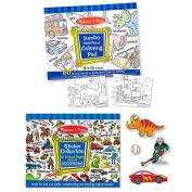 Melissa & Doug Boys Colouring / Sticker Pad Bundle
