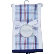 Koala Baby Boutique Boys Plaid Single Burp Cloth
