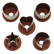 Cake Boss Decorating Tools 6 Piece Classic Linzer Cookie Cutter Set - Red