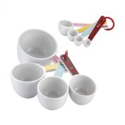 Cake Boss Countertop Accessories 8 Piece Melamine Measuring Cups & Spoons Set