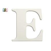 Koala Baby Uppercase Wall Letter E - White
