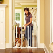 North States Portico Tall & Wide Arch Metal Baby Child Pet Gate - Linen : 4978
