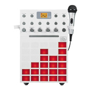 Singing Machine SML388W Karaoke Machine with Music Synchronising Light Show and Microphone