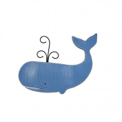 Sadie & Scout Whale Shaped Wall Decor - Blue
