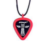 Pickbandz Necklace Silicone Pick Holder - Rockin' Red