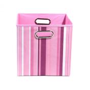 Modern Littles Rose Stripes Folding Storage Bin