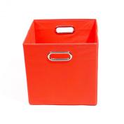 Modern Littles Bold Folding Storage Bin, Solid Red