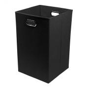 Modern Littles Smarty Pants Solid Black Folding Laundry Basket