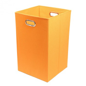 Modern Littles Folding Laundry Basket with Handles – High-Strength Polymer Construction – Folds for Easy Storage and Transportation – 35cm x 35cm x 60cm – Orange
