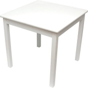 Lipper International Child's Table- White
