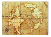 Ancient World Map Canvas Wall Art, 5 Stars Gift 60cm x 90cm Startonight