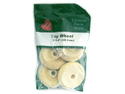 Wood Turning Shapes-Toy Wheel 2.5cm - 1.3cm x 2.5cm (0.6cm Hole) 4/Pkg