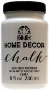 FolkArt Home Decor Chalk Furniture & Craft Paint in Assorted Colours (240ml), 34150 White Adirondack